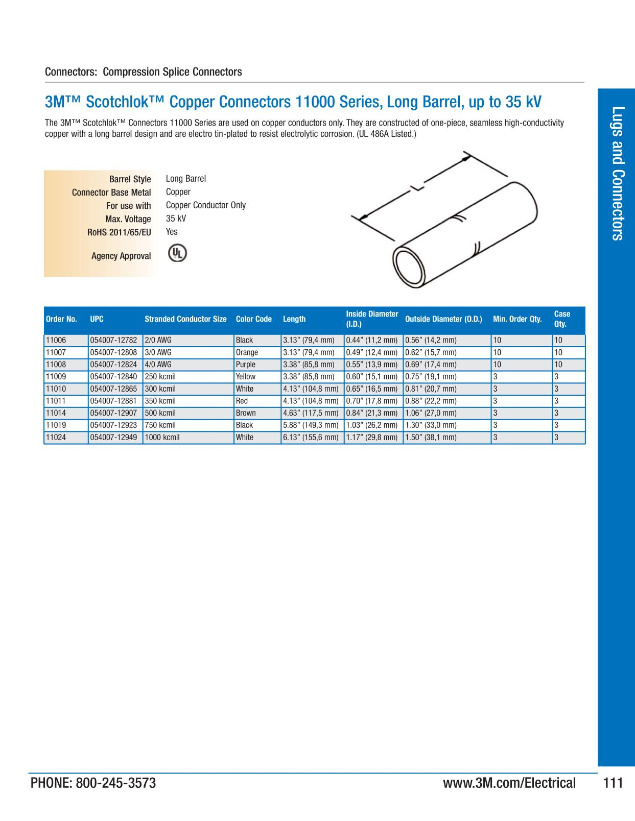 3M Electrical Products Page 110 - Lugs and Connectors