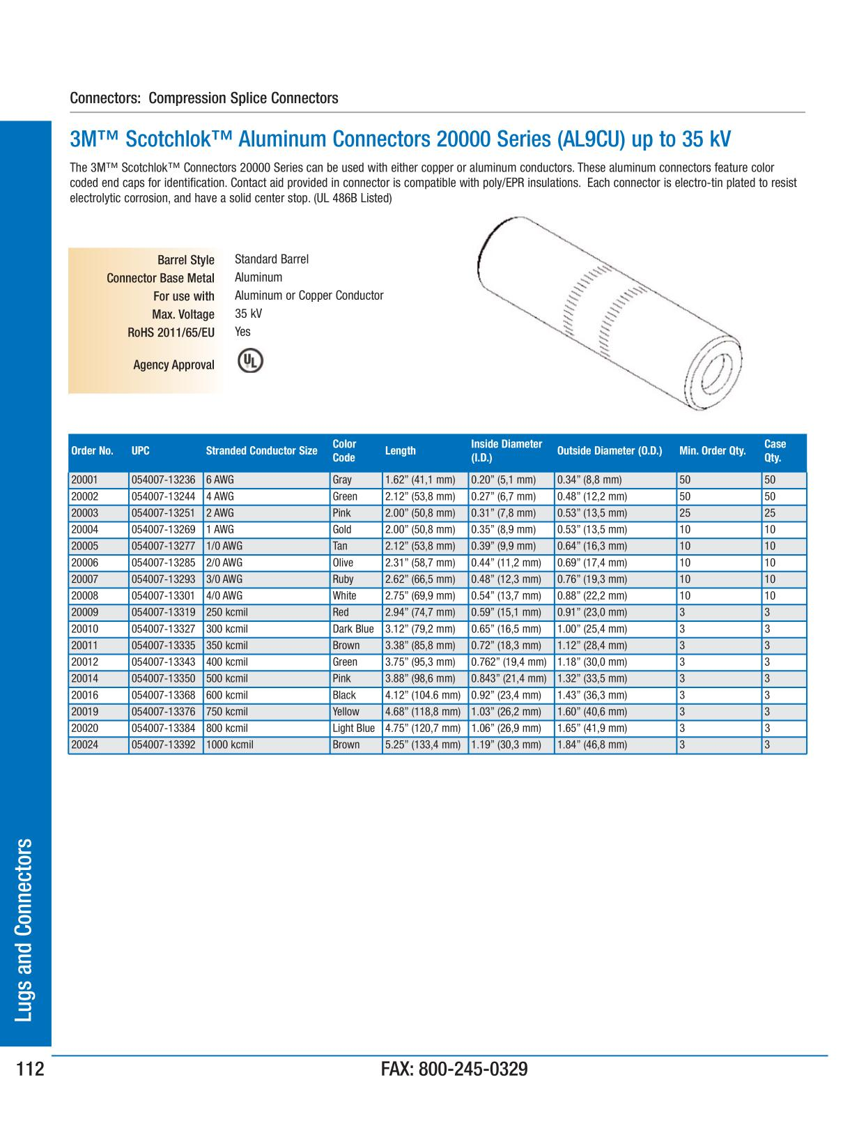 Lugs and Connectors - 3M Electrical Products Page 113