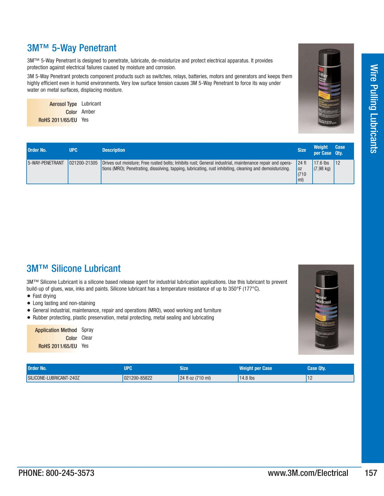 Wire Pulling Lubricants - 3M Electrical Products Page 157