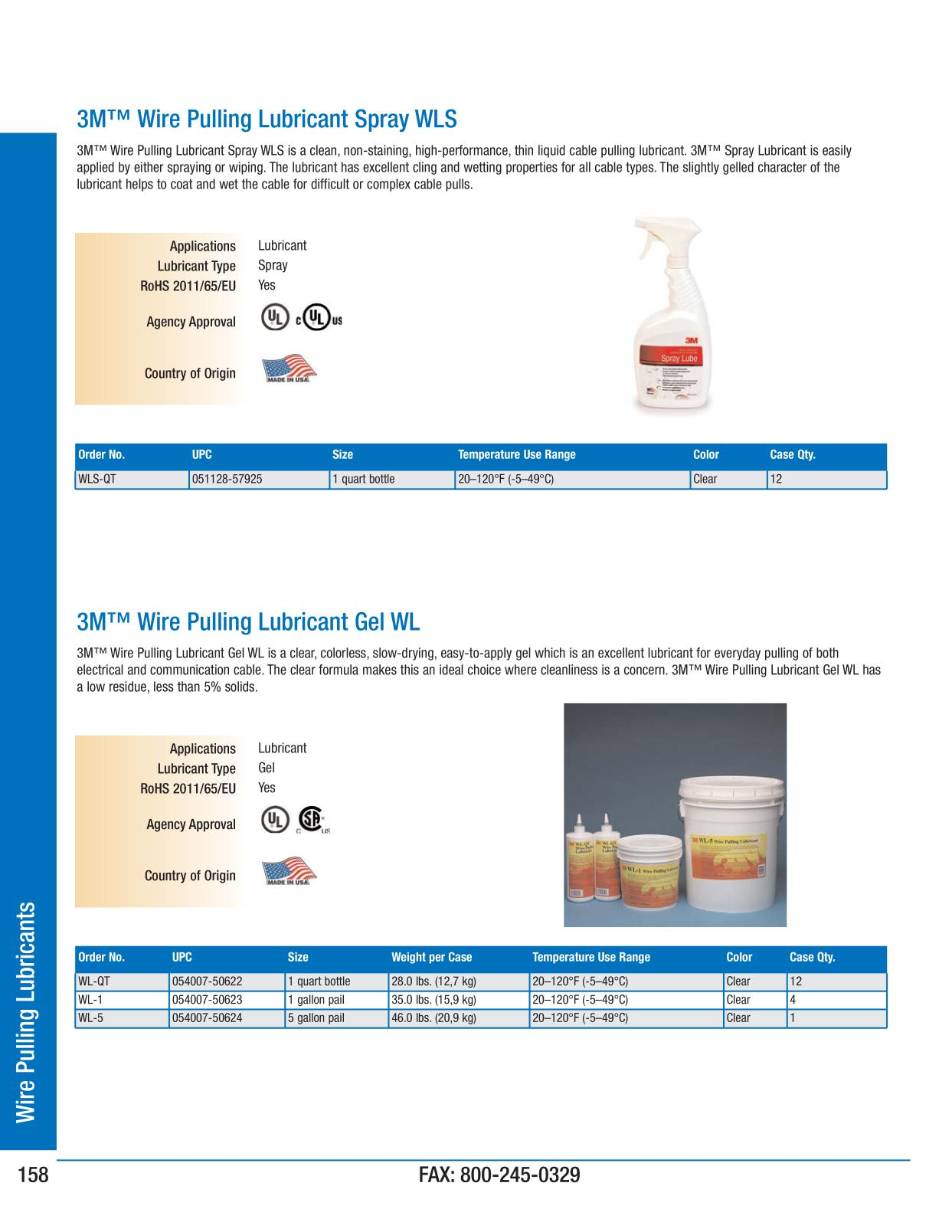 3m Electrical Products Page 158 Wire Pulling Lubricants Ideal