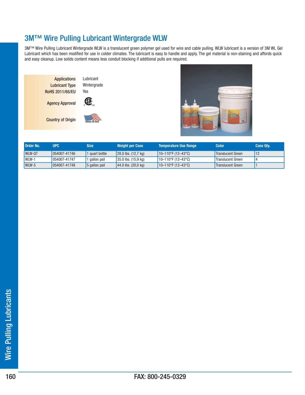 3M Electrical Products Page 160 - Wire Pulling Lubricants