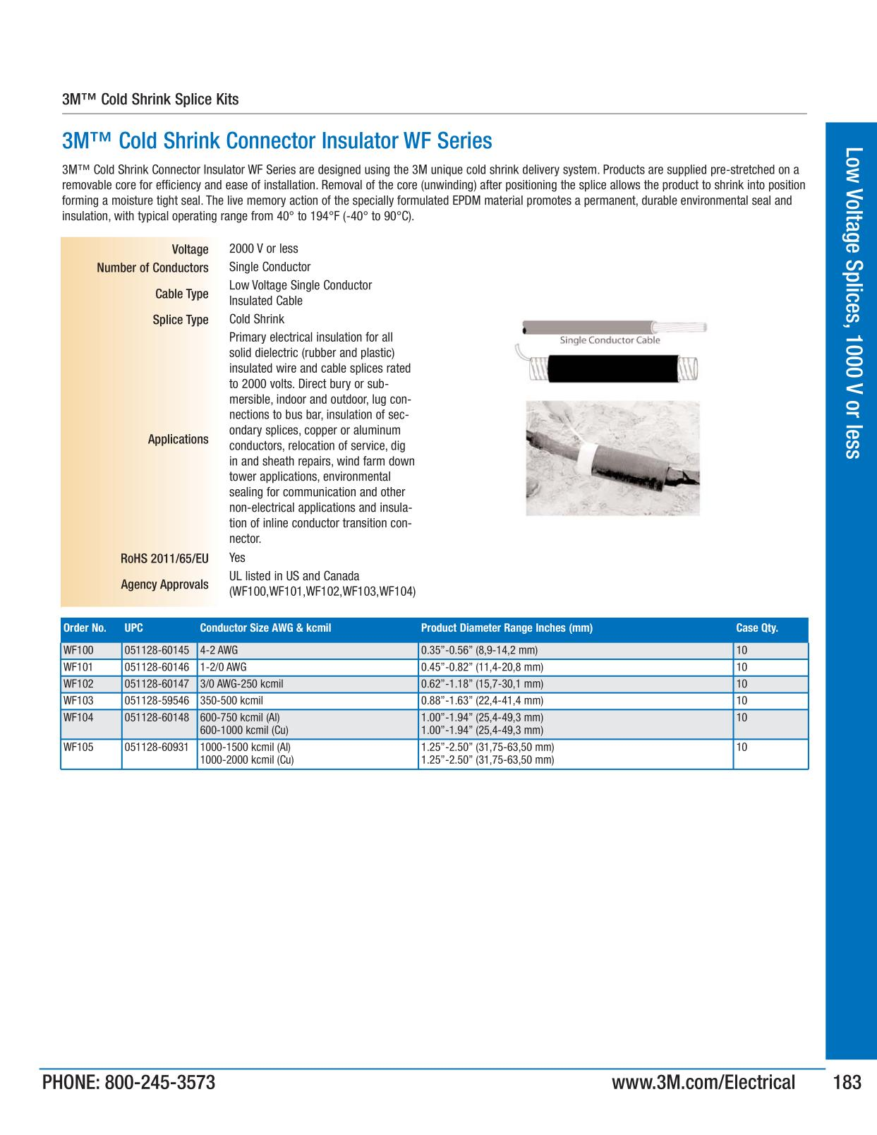 Low voltage splices 1000 v or less 3m electrical products page 183 keyboard keysfo Choice Image