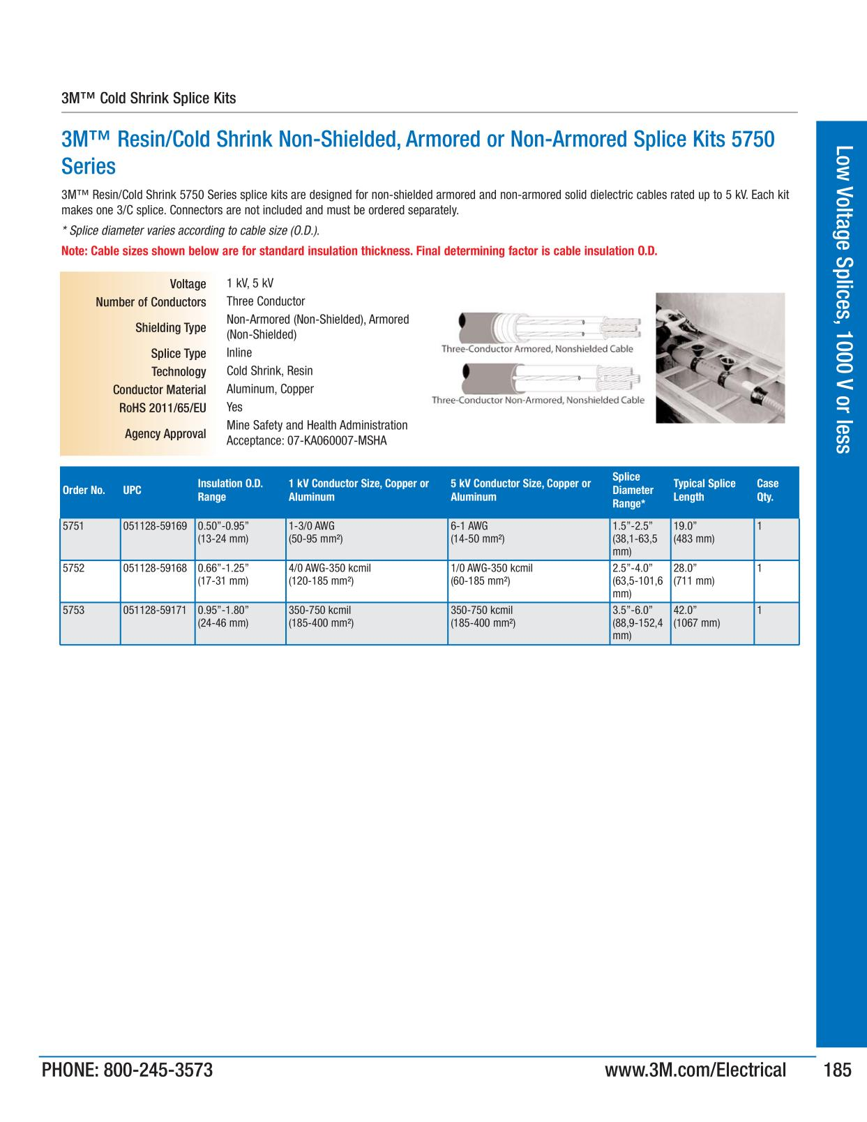 3m electrical products page 184 low voltage splices 1000 v or less keyboard keysfo Choice Image