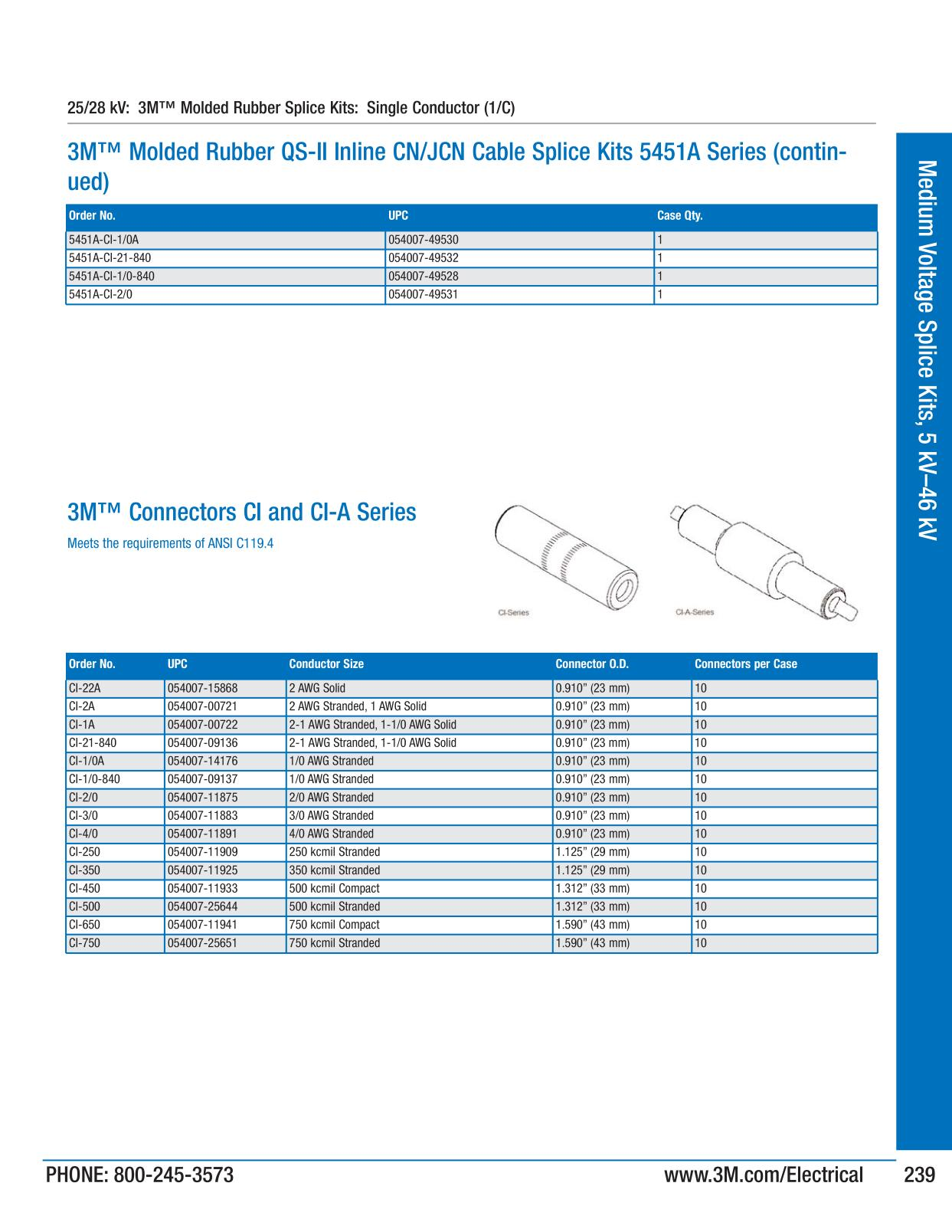 3M Electrical Products Page 240 - Medium Voltage Splice Kits, 5 kV ...