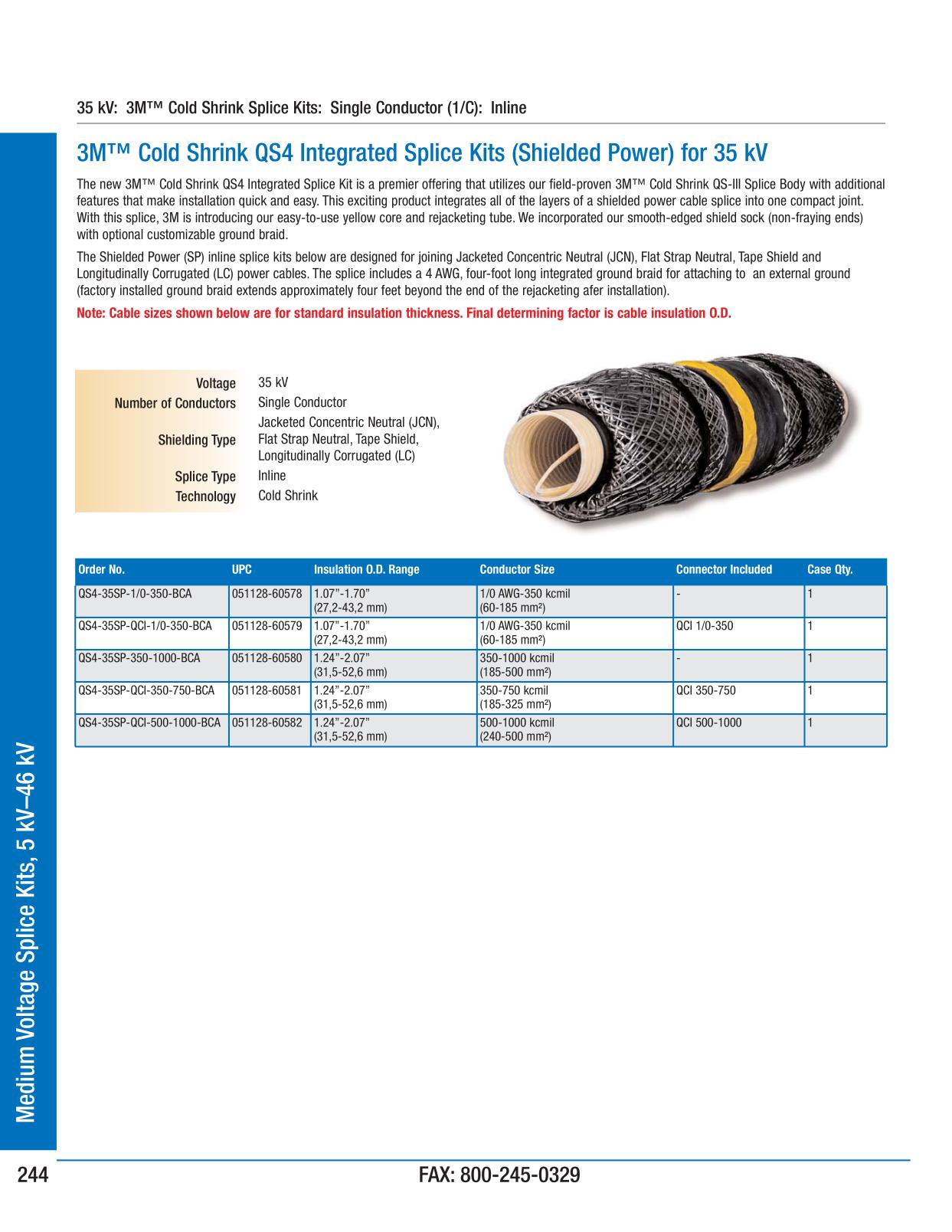 3m electrical products page 246 medium voltage splice kits 5 kv catalogs greentooth Choice Image