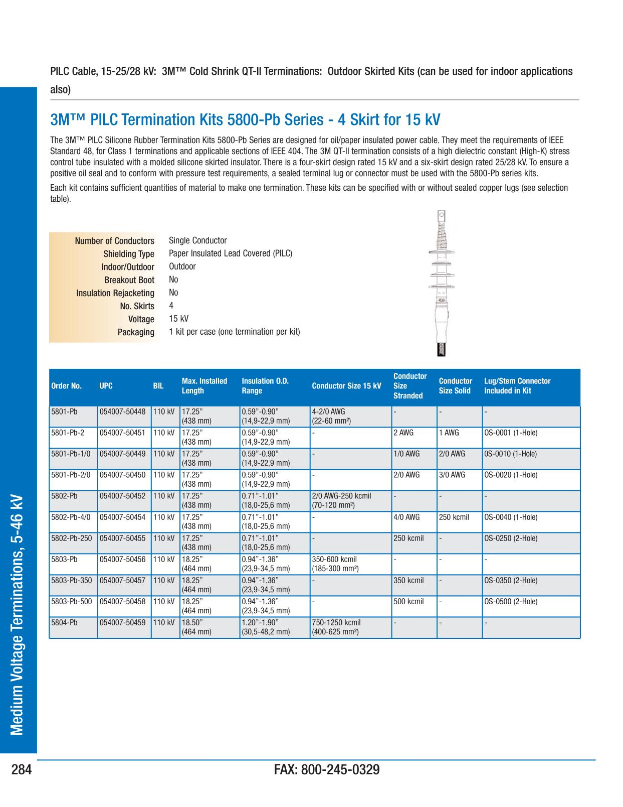 Medium voltage terminations 5 46 kv 3m electrical products page 285 greentooth Choice Image