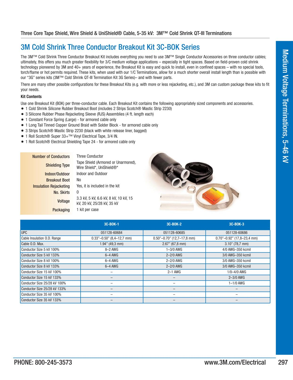 Medium voltage terminations 5 46 kv 3m electrical products page 299 catalogs greentooth Gallery