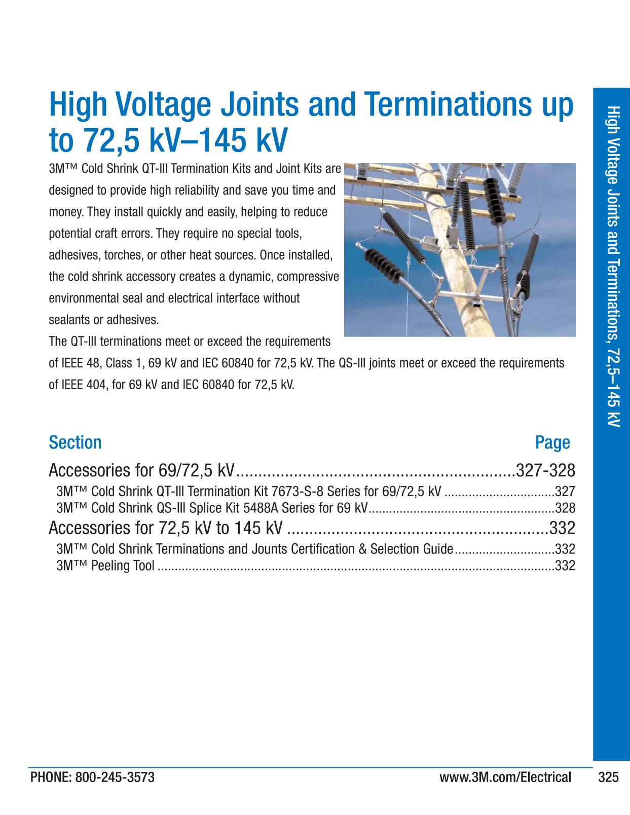 High Voltage Joints and Terminations, 72, 5 145 kV - 3M Big Deal ...