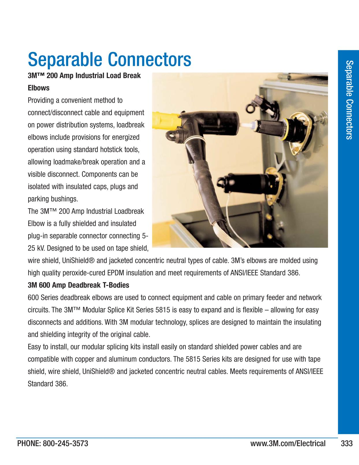 Separable Connectors - 3M Electrical Products Page 333