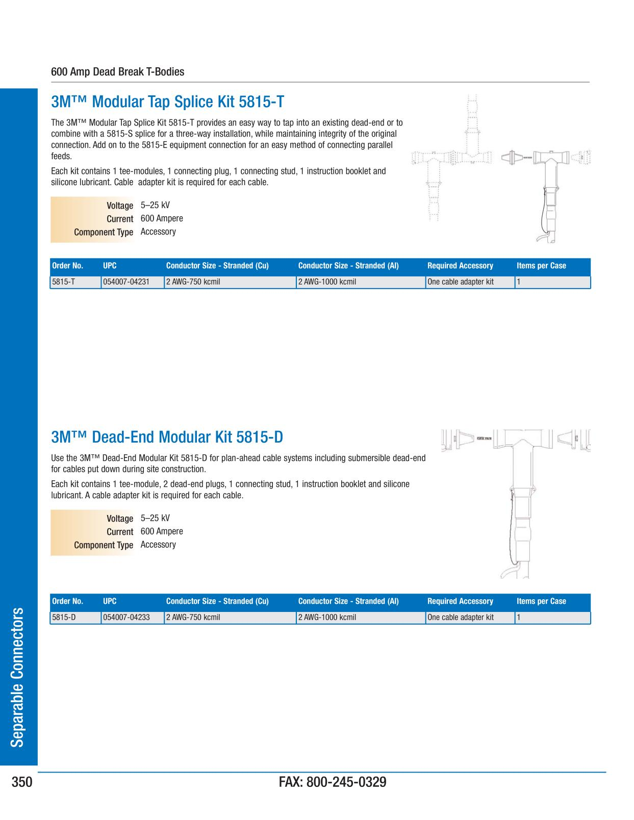 Separable connectors 3m electrical products page 351 keyboard keysfo Images