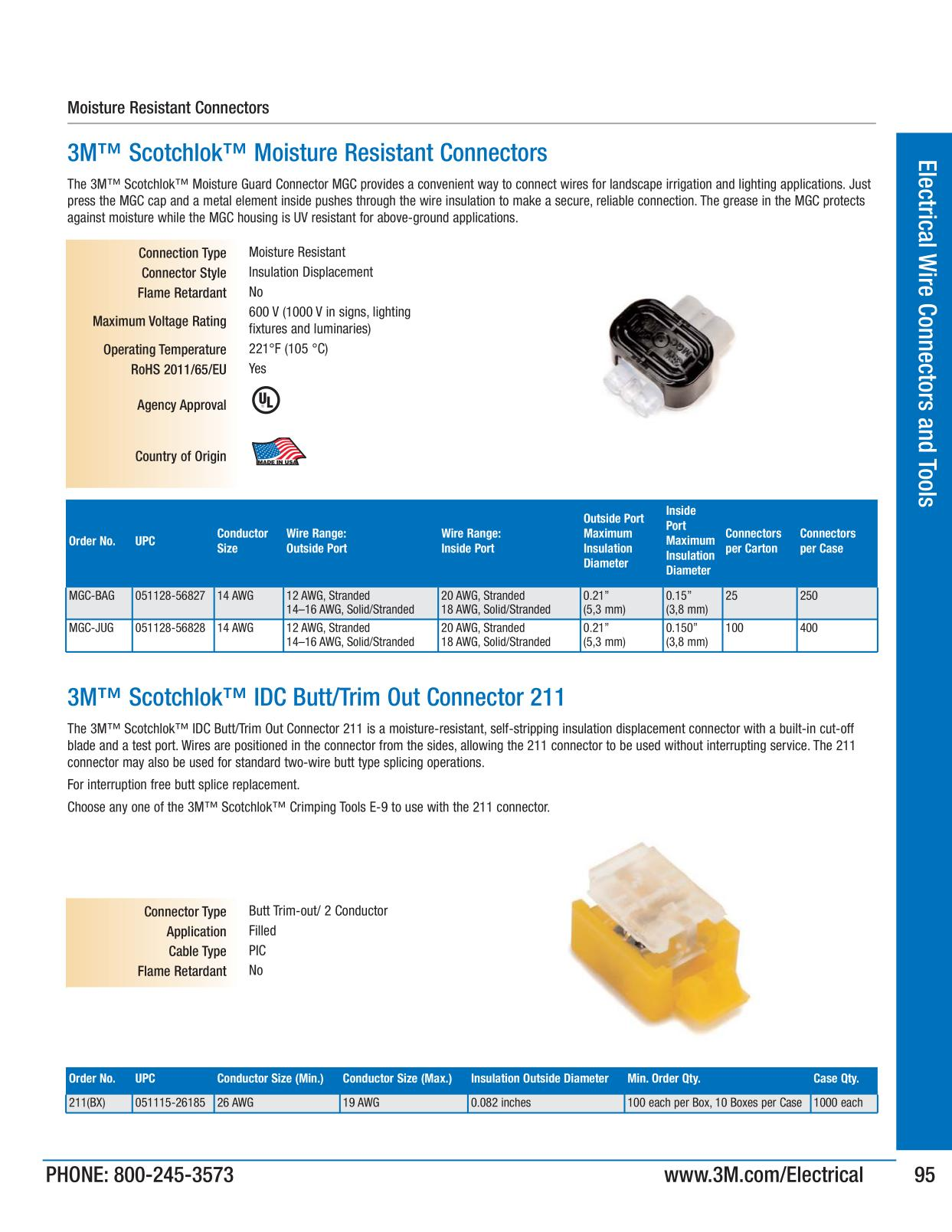 Electrical Wire Connectors and Tools - 3M Electrical Products Page 95